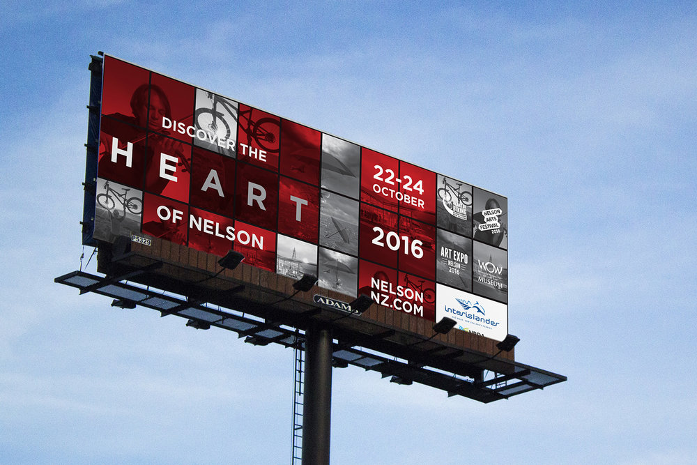 Heart of Nelson Billboard Design