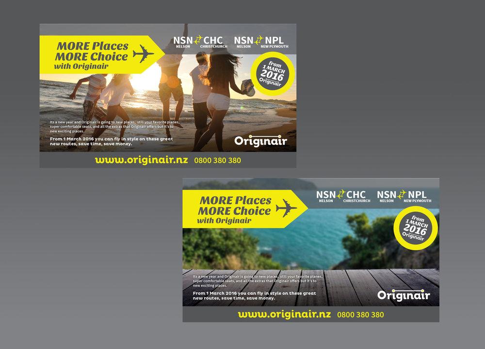 Originair More Places More Choice Ads