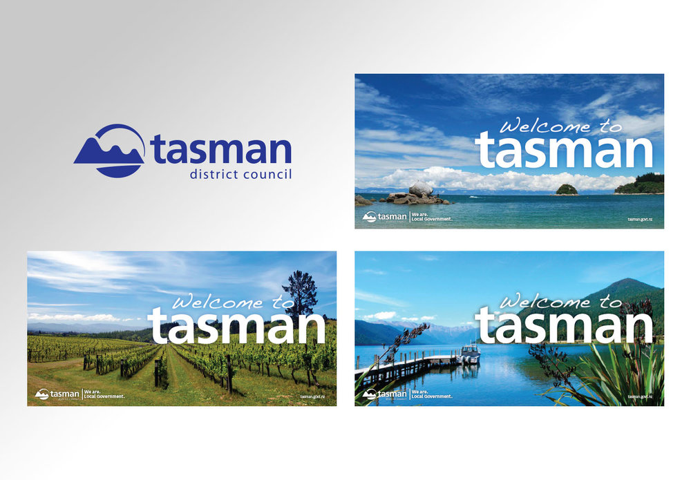 New Tasman Welcome Signs
