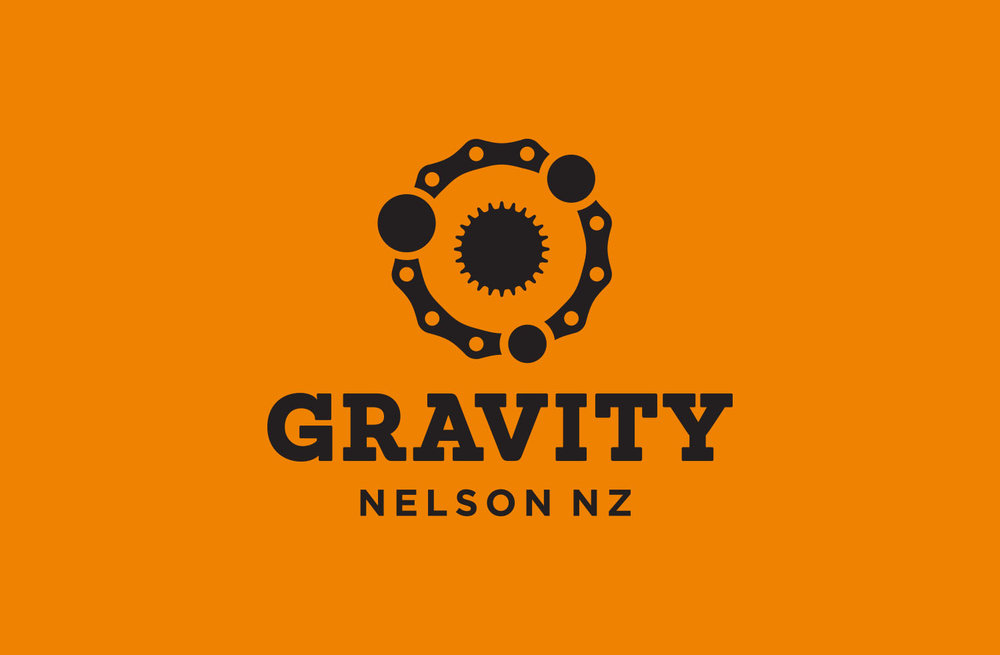 Gravity Logo Design – Single Colour