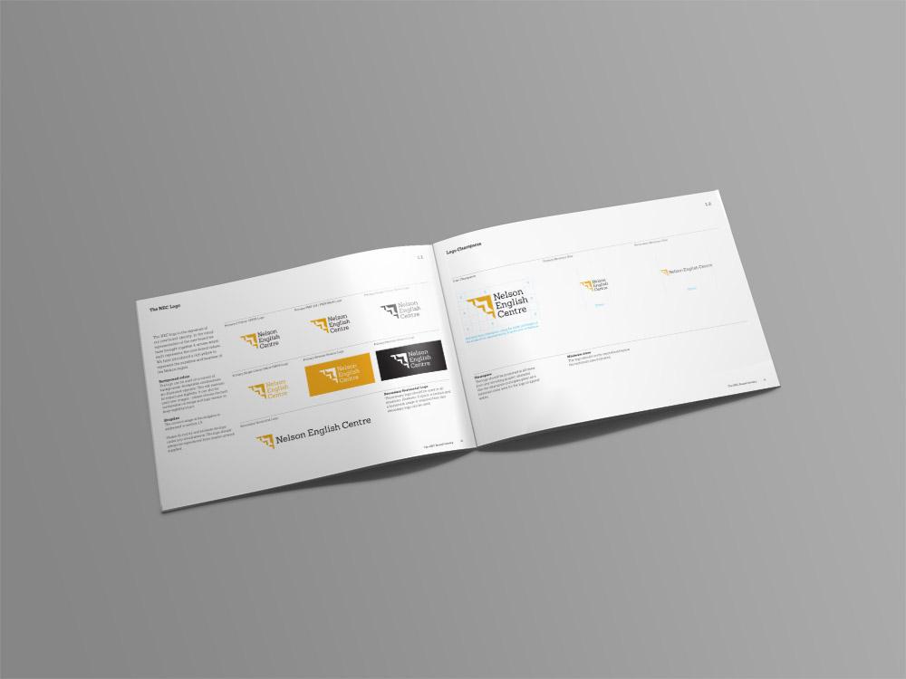 NEC Brand Identity Guidelines Spread
