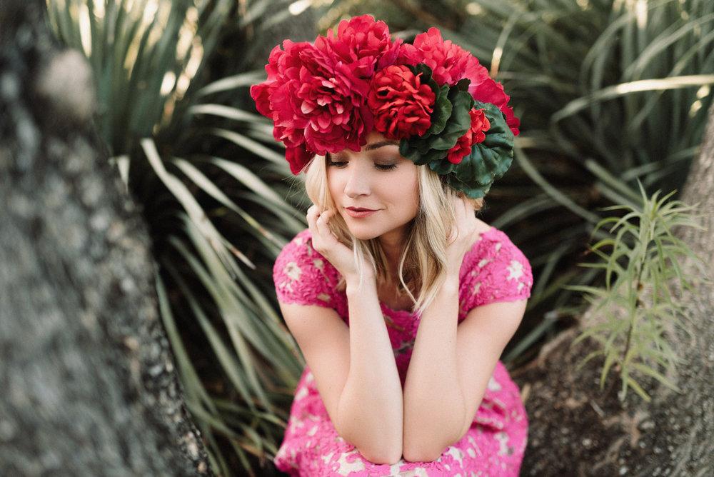 Pink Flower Crown Portrait