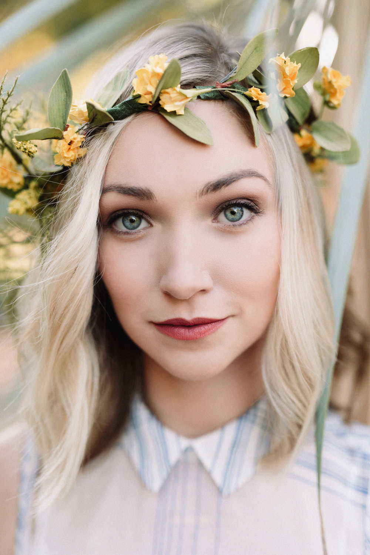 Beautiful Flower Crown Portrait Photograph