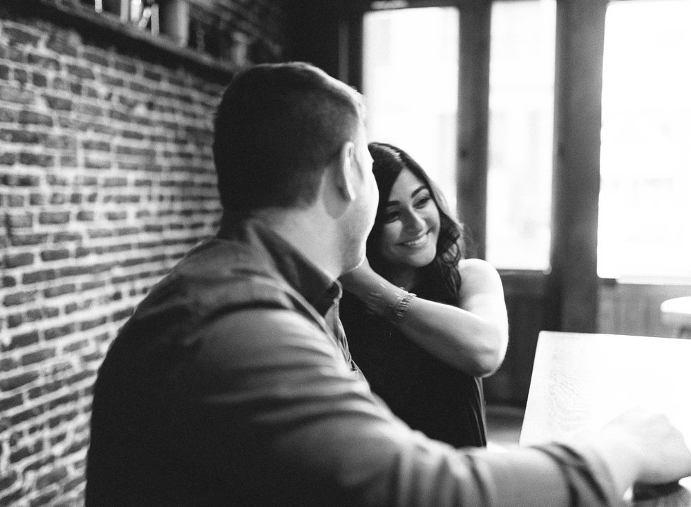 Romantic Bar Engagement Session in the City