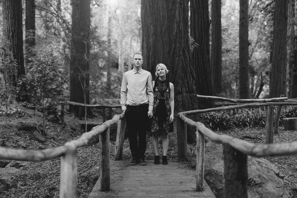 Romantic Black and White Engagement Photography in San Francisco