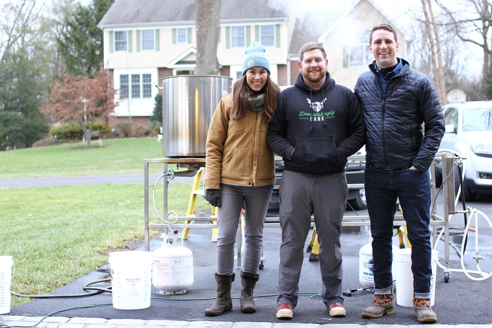 Team Triple Bottom at our final brew day in Bucks County. December 9, 2018.