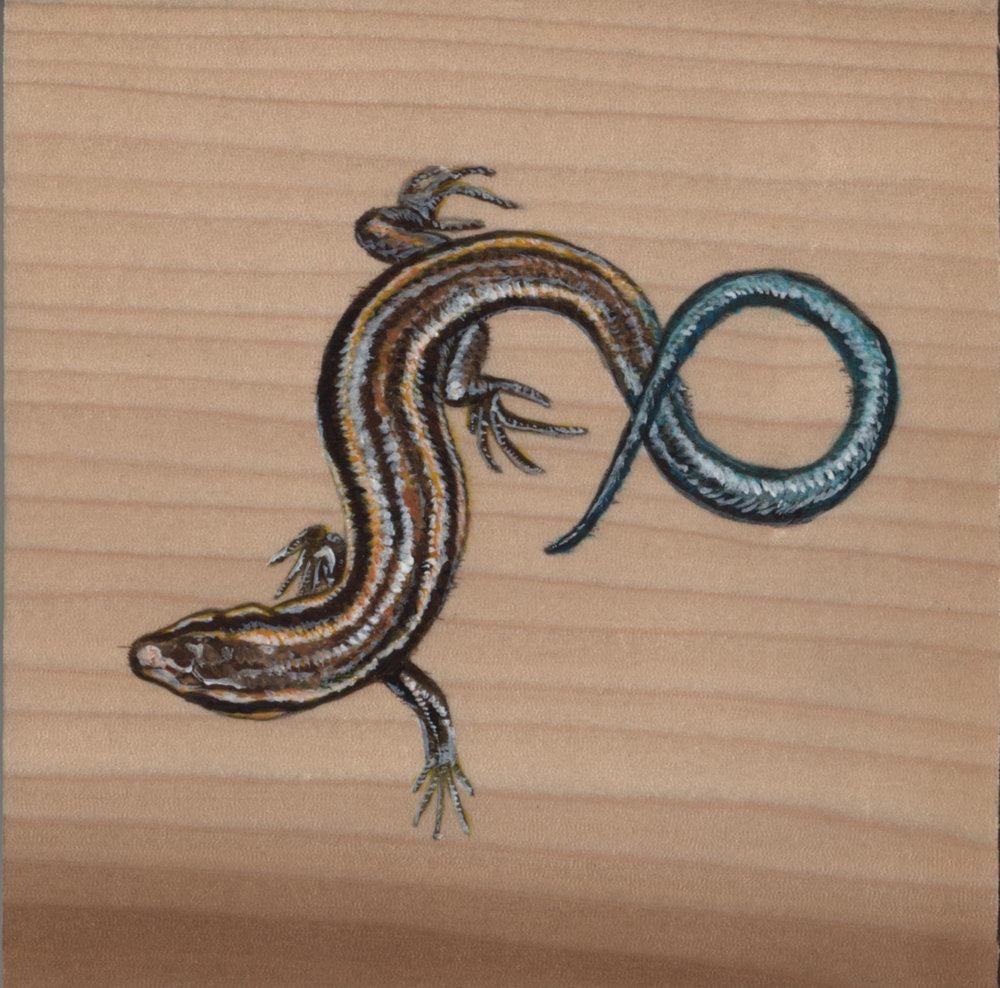 Plestiodon Inexpectatus Lizard_Painting on wood_01.jpg
