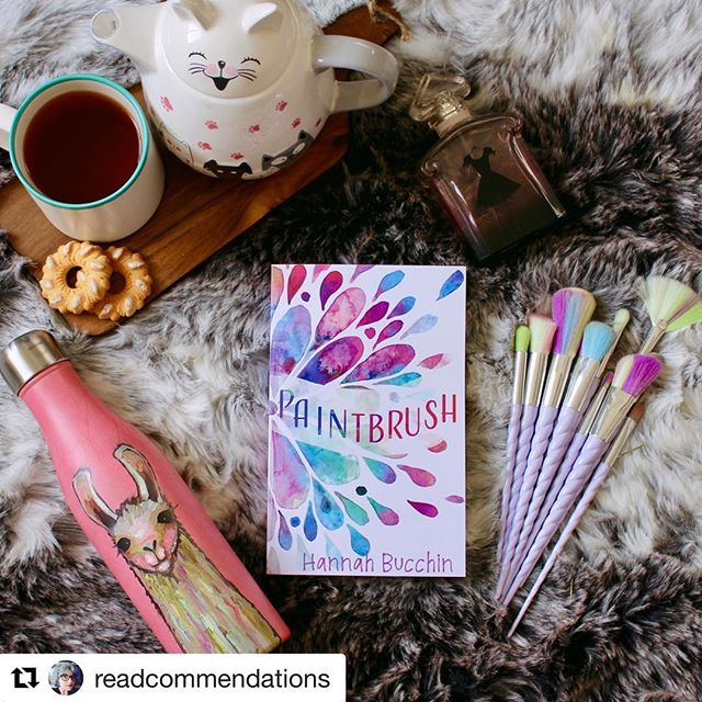Some #bookstagrams are so cute that I just HAVE to repost. Thanks, @readcommendations ! Check out her account for more great reviews and recommendations ✨ . .  #Repost @readcommendations (@get_repost) ・・・ Just finished reading Hannah Bucchin @hannahbucchinauthor 's YA PAINTBRUSH, and my heart feels all fluttery and warm! What a sweet book!  It follows the lives of two teens who grew up in a commune together, and whose relationship is evolving past friendship - but they're also about to graduate, and have to decide where they want to be. It's really thoughtful, and painful at times, but so adorable overall!  Check out my full review: https://readcommendations.com/2018/01/16/paintbrush/ . . . #bookworm #bookstagram #booksofinstagram #instabooks #booknerdigans #bookphotography #bookaddict #bookphotos #bibliophile #bookworm #booklover #bookaddict #currentlyreading #amreading #books #cookies #tea #booksandtea #YA #ireadya #hannahbucchin #paintbrush