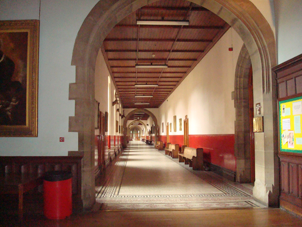 The upper hallway of classrooms - Stonyhurst