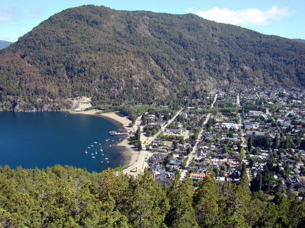 The town of St. Martin de los Andes