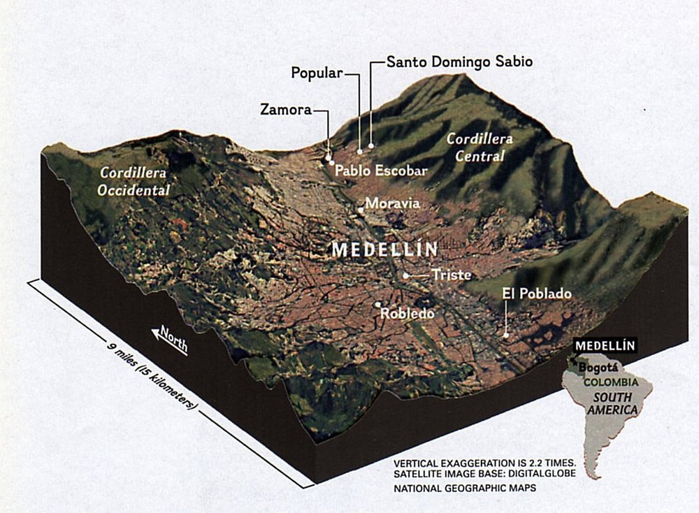 Great map image - The El Poblado area is where I was staying
