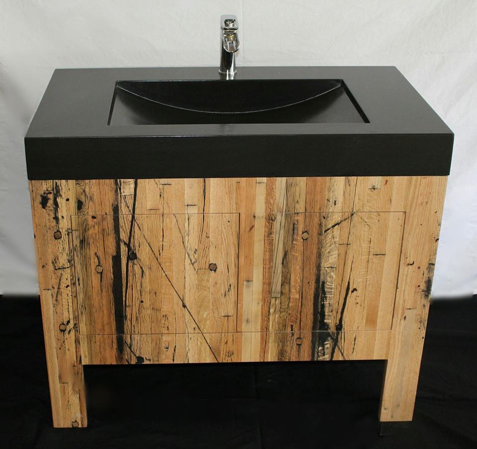 Reclaimed Wood Pedestal Sinkjpg