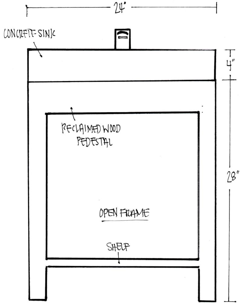 Open Frame Pedestal Sink