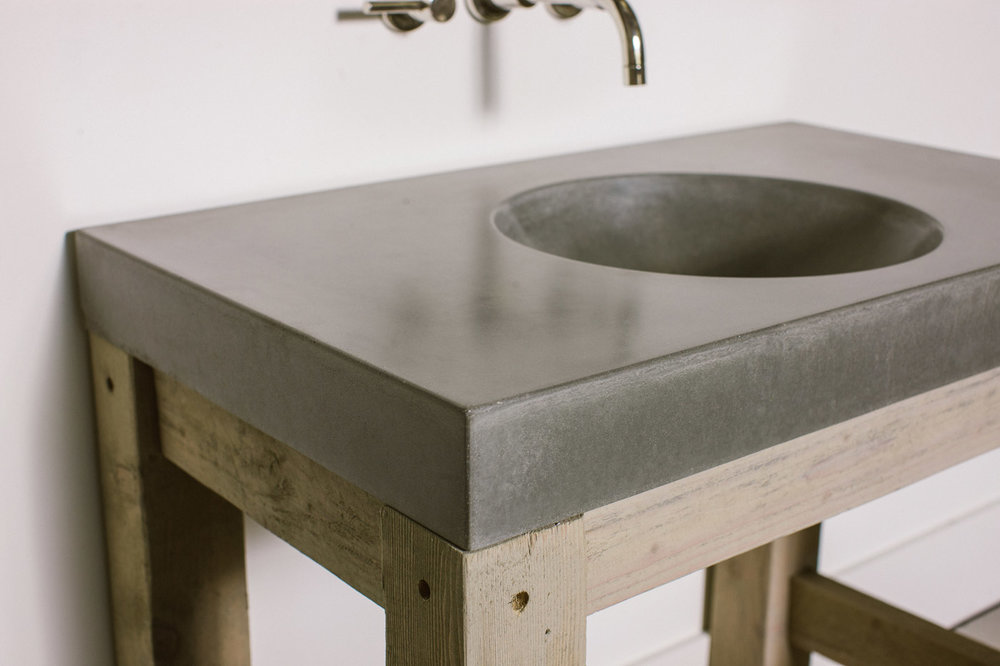 Products Sinks Orb Bowl Concrete Sink Slot Drain