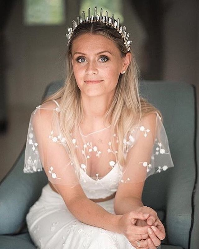 Married in Barbados (hello dream destination) Beautiful Steph is wearing the 'Helena' crown, as pictured in our previous post, on her wedding day to handsome hubby Adam ✨ Stunning photos by @lifephotographybyaniya Dress by the dreamweaver @rimearodaky Congratulations and a lifetime of happiness to this sweet family Xx #realwedding #barbadoswedding #marriedinparadise #quartzcrown #crystalcrown #pearlcrown #bridalhair