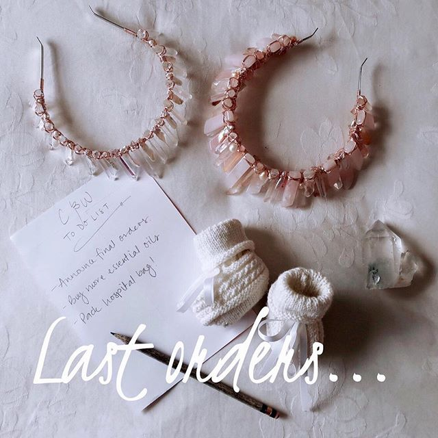 Today marks one month until I close the website in preparation for the arrival of my baby girl ❤️💕 For all those customers awaiting the right time to place their order please be aware that all crowns are now subject to limited availability so if you have your eye on something I'd recommend getting in soon. Unfortunately I cannot take on custom requests and I also can't promise that 'Out of Stock' items will come back in that time.. A lot of the stones I'd been hoping to receive are no longer available from my supplier due to the unpredictable nature of some of the more unique gemstones.  I still personally hand-craft each crown and creation can take anywhere between 7-10days. All Australian orders are then express posted.  International orders can take 5-10 business days once sent but it also depends on the customs in your country.  My plans are to reopen the website later in the year with new designs and some of the classics, but I'll keep you all updated with how we're doing ☺️ More so than ever I'm excited to meet the energetic soul keeping my husband & I entertained with her nightly gymnastics routine.  Thanks always for your love & support, Natasha X