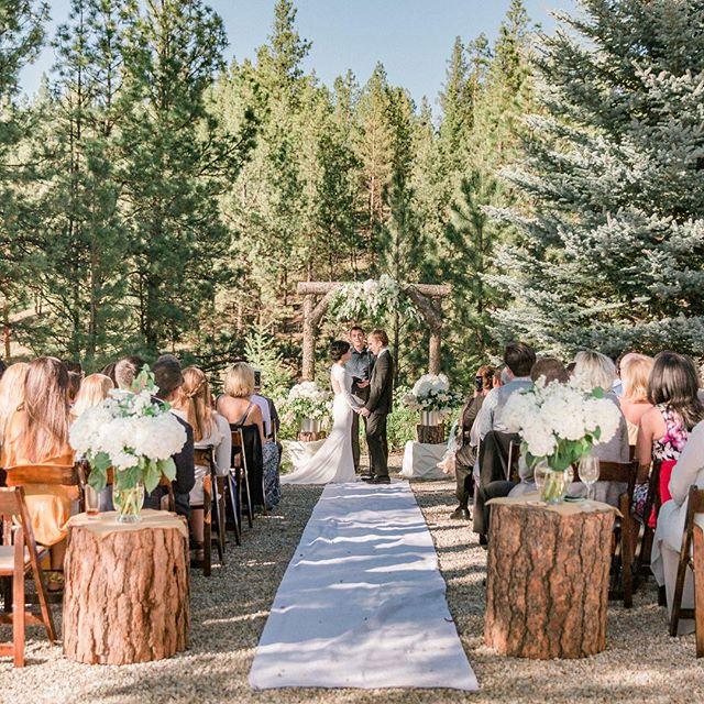 """I now pronounce you husband and wife."" . . . . #wedding #nature #landscape #photography #love #husbandandwife #montana #california #summer #noodleandburger #travel #bride #fashion #style #lookbook #dress #weddingdress"