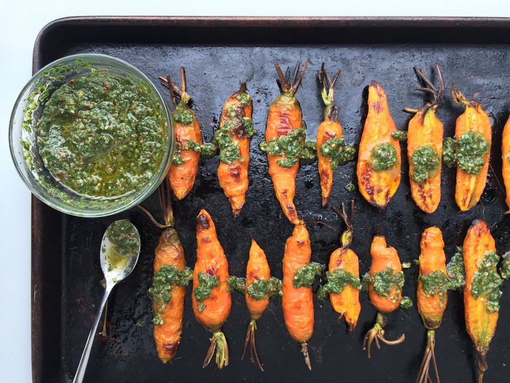 Chimichurri Carrots