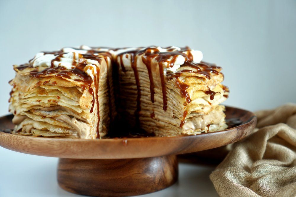 Thai Coffee Crepe Cake