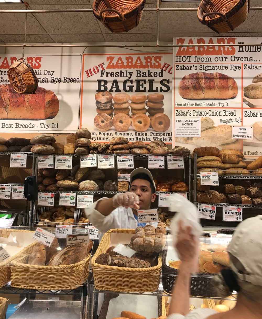 Zabars Bagels New York