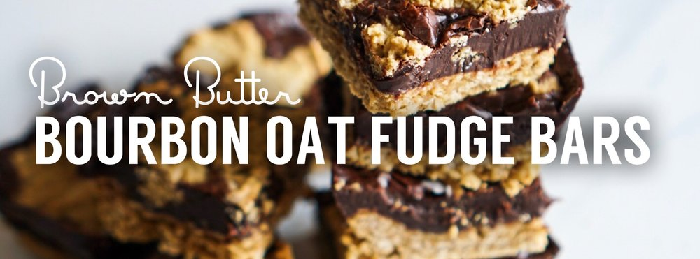 Bourbon Oat Fudge Bars
