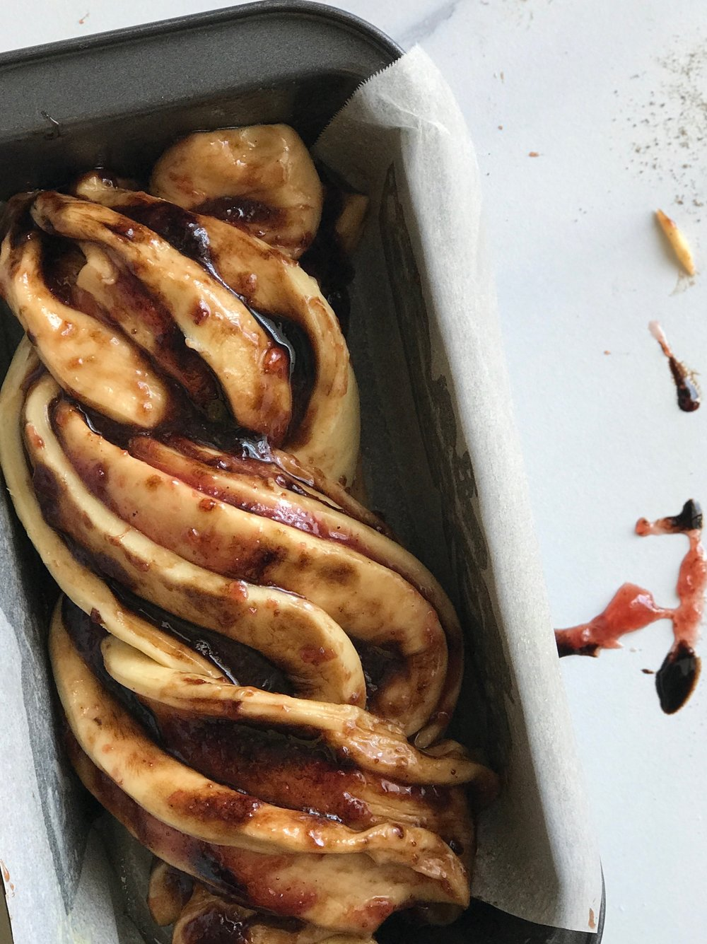 Strawberry Balsamic Pepper Babka