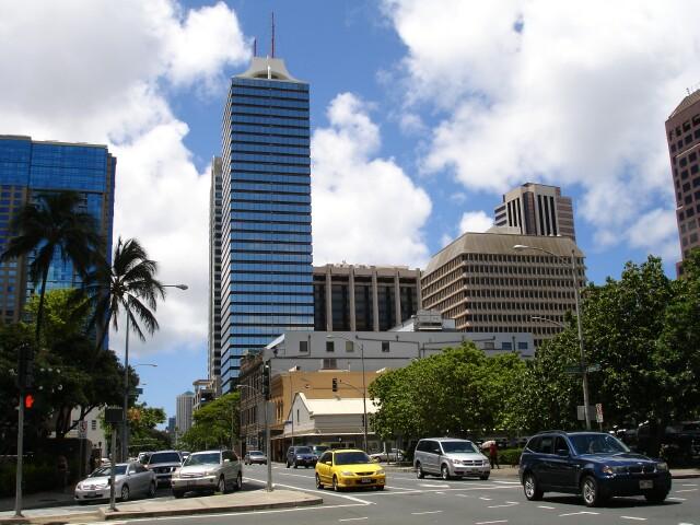 Downtown Honolulu, Corner of Beretania & Bishop