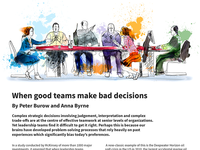 When good teams make bad decisions