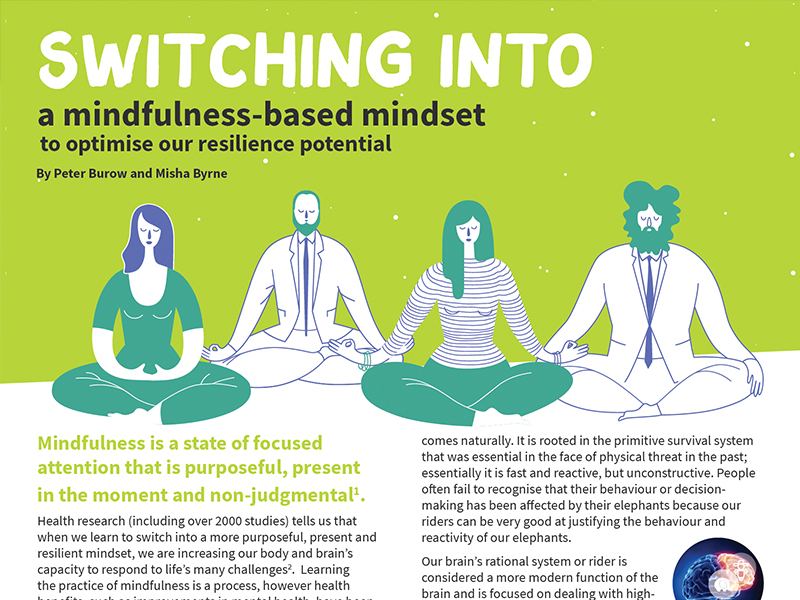 Switching into a mindfulness-based mindset to optimise our resilience potential