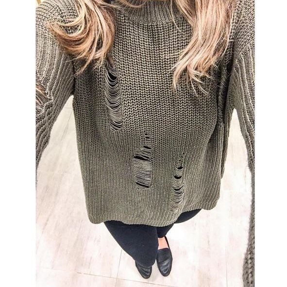 Distressed Detail Tunic