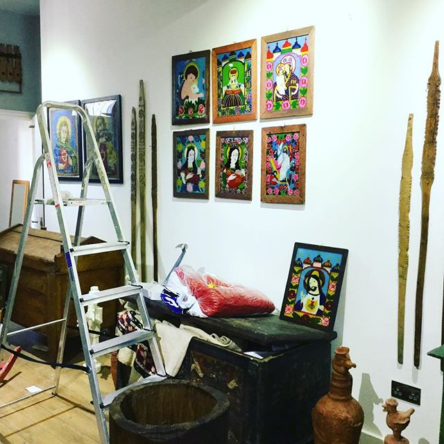 3 hours left!!! See you at 6pm, 98 Tower Bridge road. Se1 4tp. Transylvanian Families will be open between 13th and 30th September #exhibition #folk #folkart #workinprogress #gallery #folkgallery #unique #romania #transylvania #icons #glass #london #uk #opening
