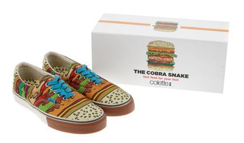 9b8a77ecf964 The Cobra Snake x Colette Cheeseburger Vans — Burgerac