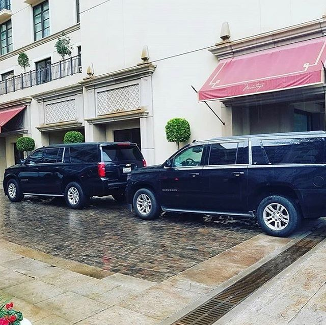 Cold and rainy days in LA a much more comfortable when a car is waiting for you.  #losangeles #beverlyhills #montage #chauffeur #limo #onlythebest #service
