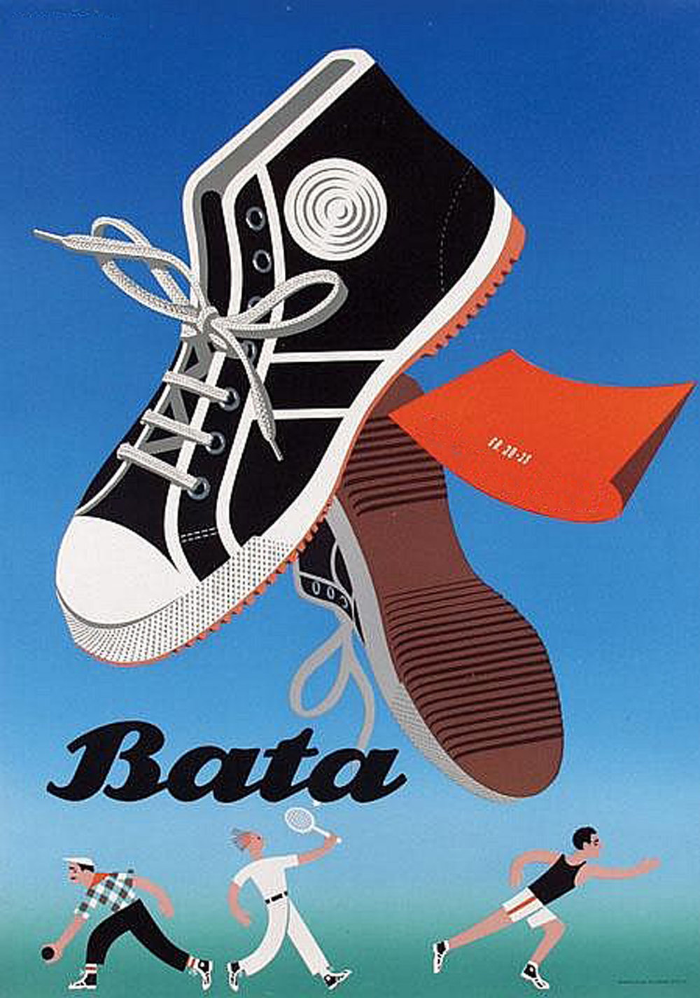 Bata's famous posters from the 1940's.