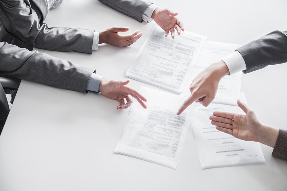 We handle contract disputes between businesses, partners, and individuals.