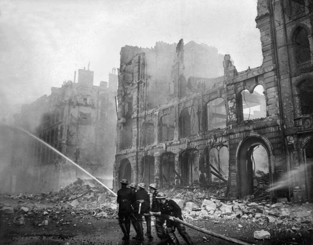 Firefighters in London during World War 2