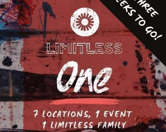 LIMITLESS ONE - A regional Youth event for 11-18s that is taking place in Life Central Church, Halesowen on the 16th February.https://www.youtube.com/watch?v=KdNa3HaKPMkClick here for more information and to buy your ticket