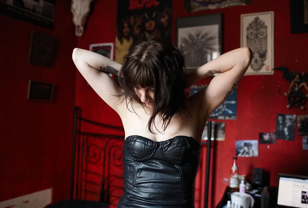 Iina in her bedroom  , Berlin, 2016