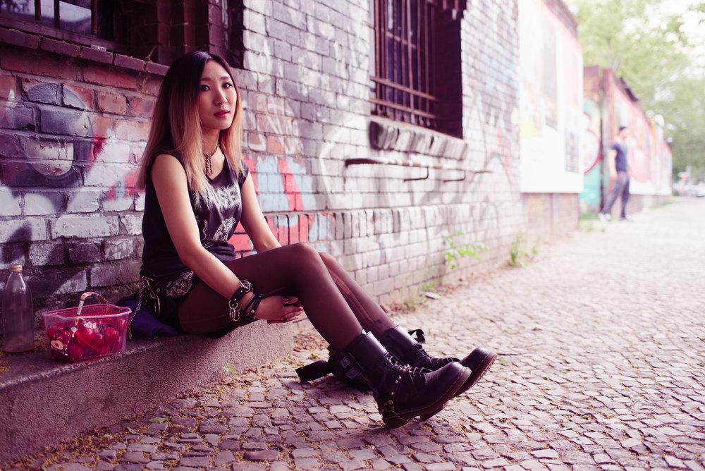 Juyoung, Scumraid drummer, Berlin, 2016