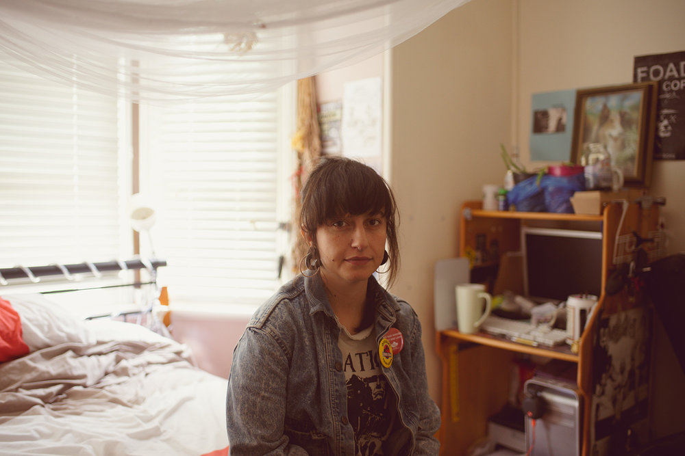 T.J. in her bedroom, Summer Hills, 2017