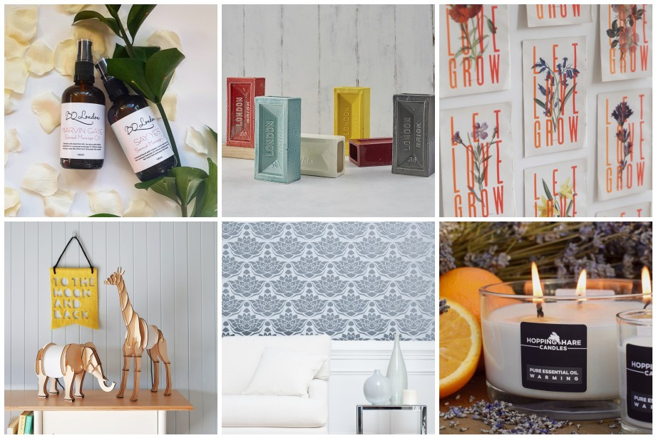 Enchanting gifts from BQ London,  Stolen Form ,  Basil & Ford ,  Lello ,  Stencil Up  and  Hopping Hare Candles .