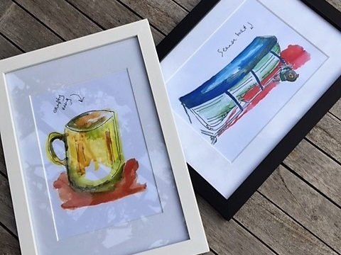 - Watercolour LouLou15th and 22nd DecemberCheerful, bright watercolour illustrations of curious and everyday objects, people and places.