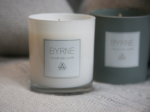 - Byrne Candles15th December and 22nd DecemberNatural blended wax candles created with pure, natural ingredients. Christmas gifts, winter warmers and all-round cosy creators.