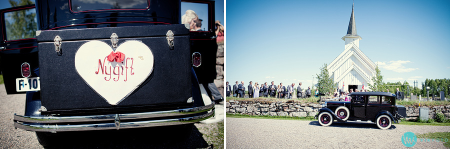 31 veteranbil bryllup brudefølge