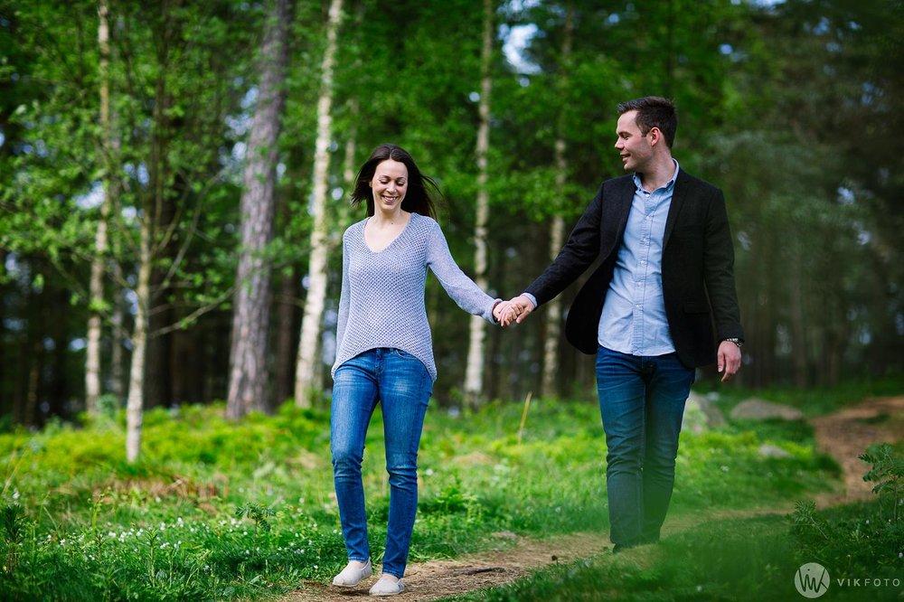 Kjærestefotografering i Sarpsborg ved Tunevannet.