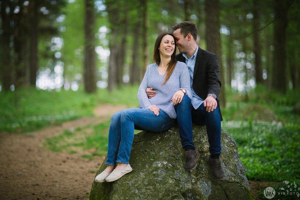 Bilde av kjærestepar, romantisk kjærestefotografering
