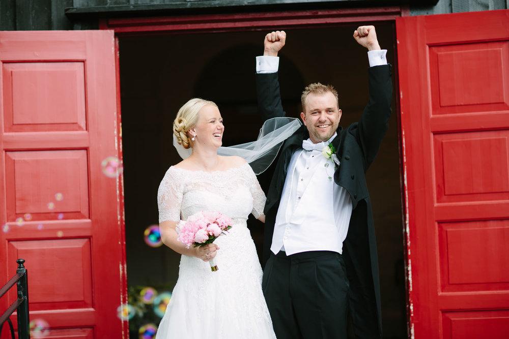 Vielse av brudepar i Rygge Kirke