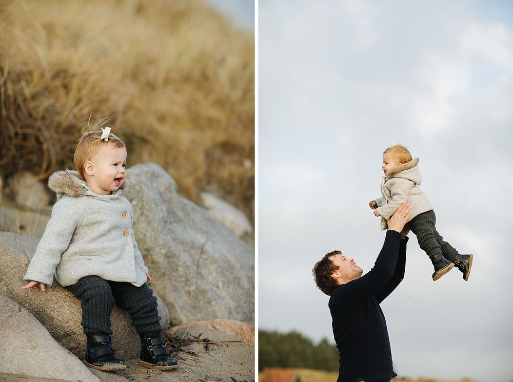 Familiebilder på stranda