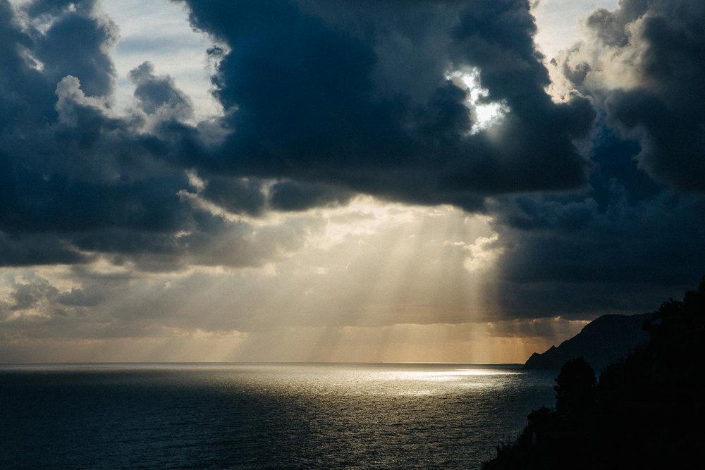 Magisk lys ved Cinque Terre