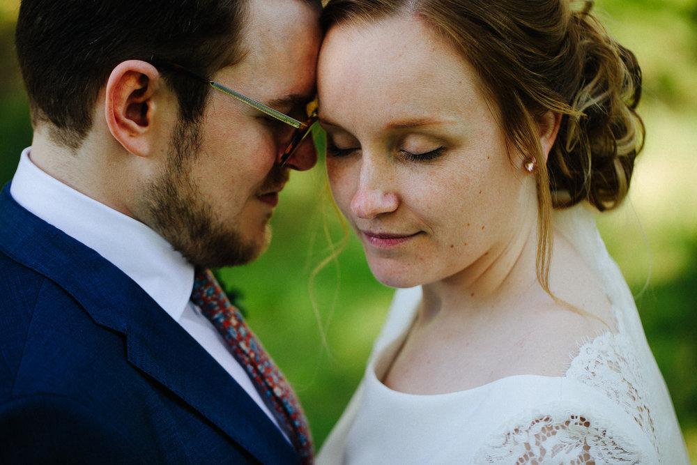 Nærbilde av brudepar